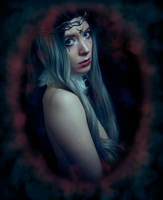 Fantasy portrait photography of a White Queen during a time of peace