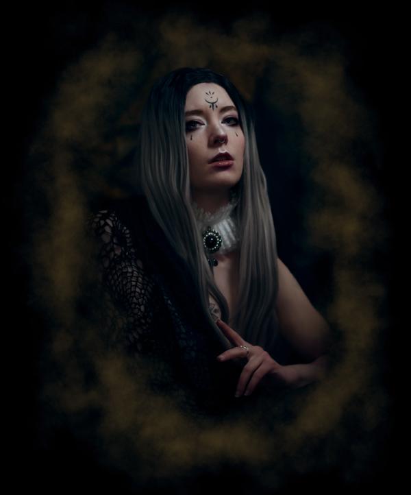 Fantasy self-portrait of a Queen