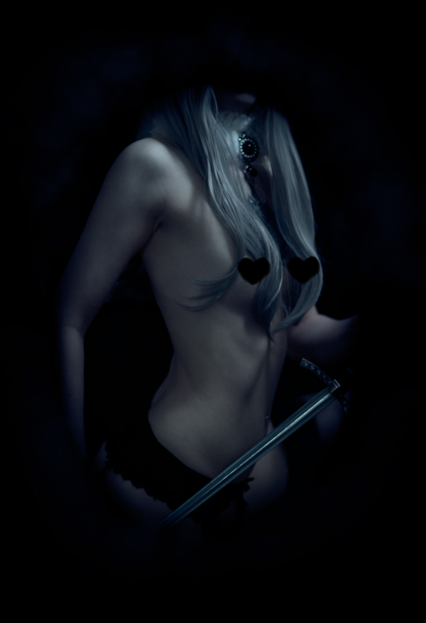 Nude fantasy boudoir portrait
