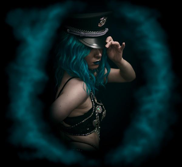 Burlesque portrait photography