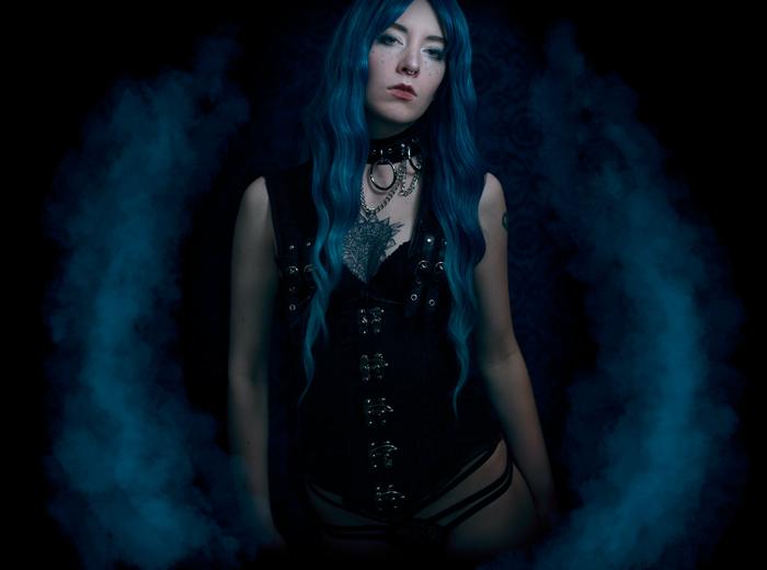 alternative dark fashion portrait