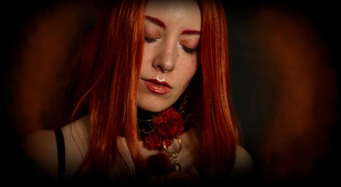 Sensual portrait of a redhead