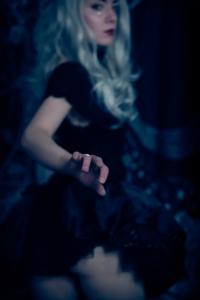 Boudoir portrait of a witch