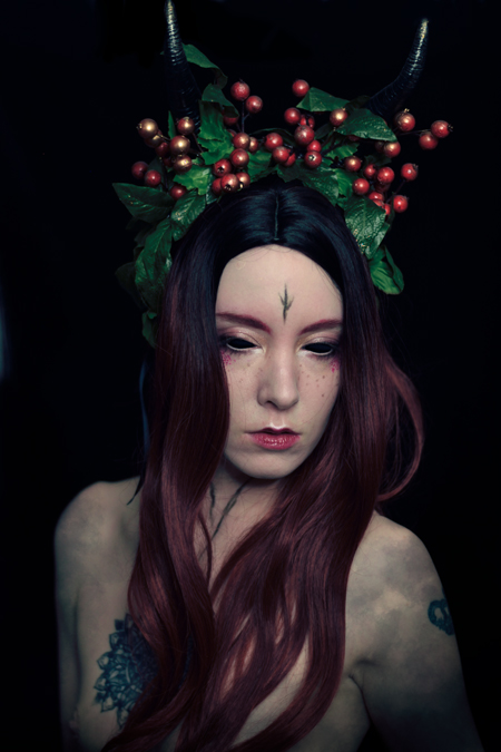 fantasy portrait or a yule demon