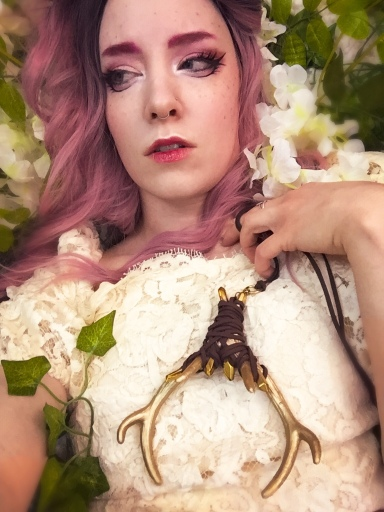 fantasy photoshoot with handmade couture