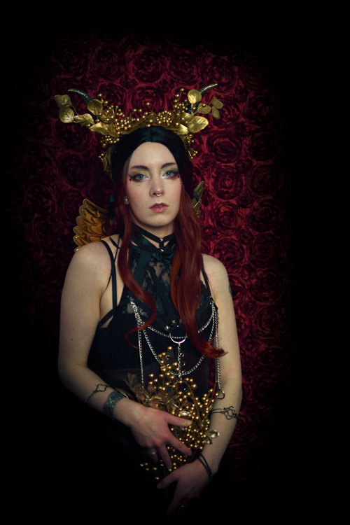 gold goddess portrait photography