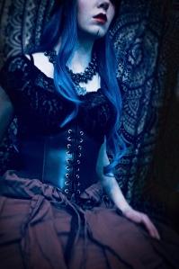 Goth fashion portrait photography