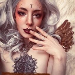 boudoir angel fantasy portrait