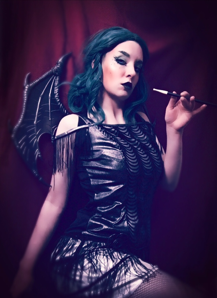 Flapper demon cosplay portrait