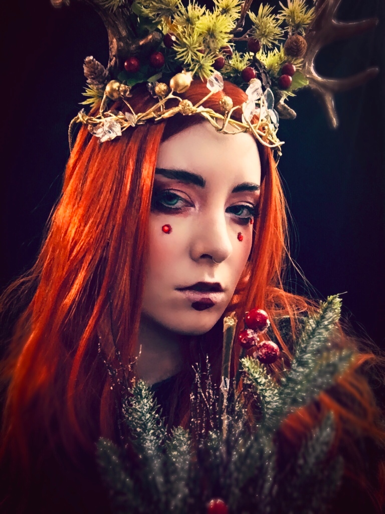 Fantasy photography cosplay of an androgynous forest king